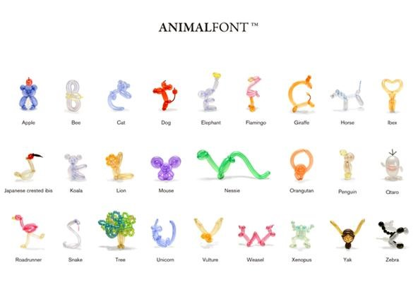 Animal Balloon Font