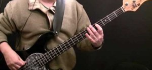 "Play ""Pump It Up"" by Elvis Costello on the bass"