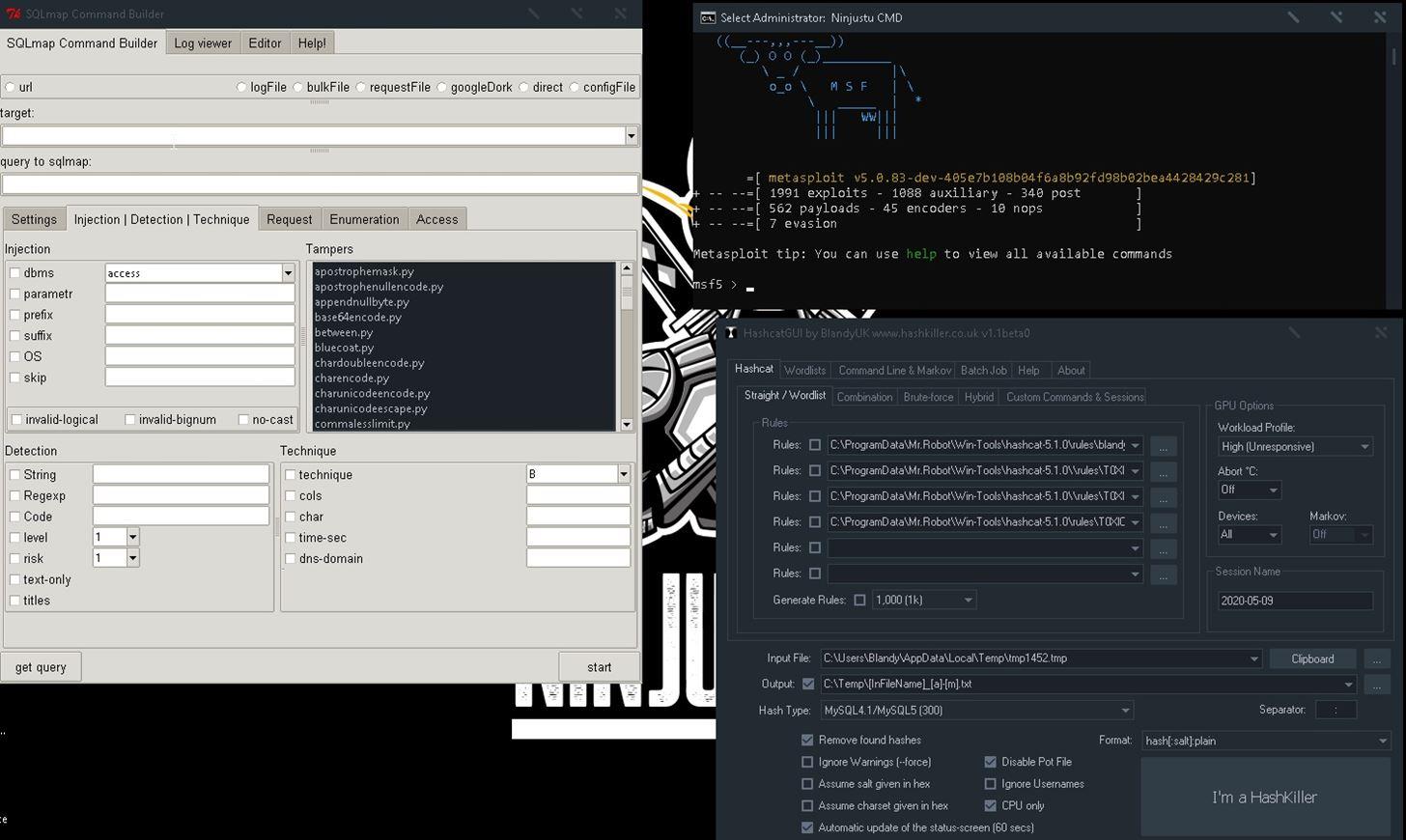 Ninjutsu Project Penetration Testing/Red Teaming Distribution Based on Windows