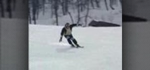 Fun carve while skiing