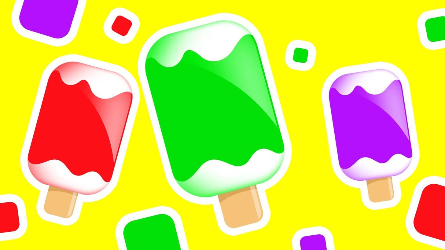 Colors for Children to Learn with Ice Cream