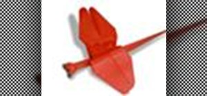 Origami a dragonfly Japanese style