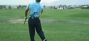 Use efficient power to crush a golf ball