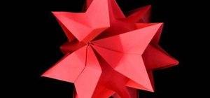 Craft a pretty origami Amaryllis (kusudamas)