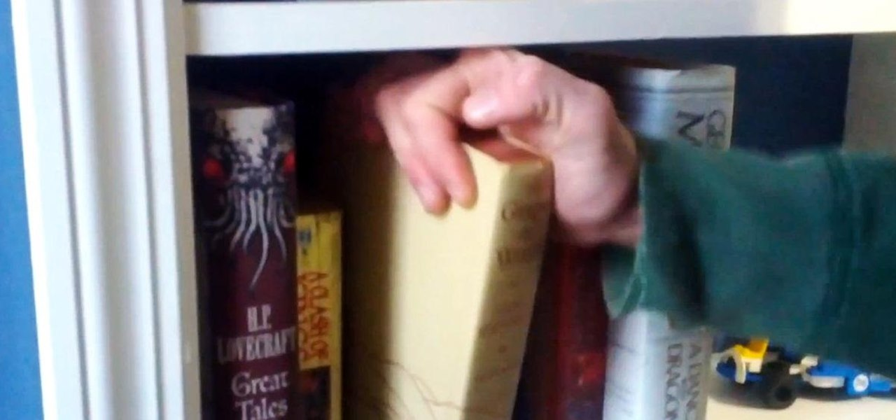 Keep Your Secret Stash a Secret with This DIY Hidden Bookcase Door