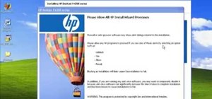 Install HP printer drivers in Windows XP