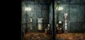 Get through the prison level in the indie game Machinarium