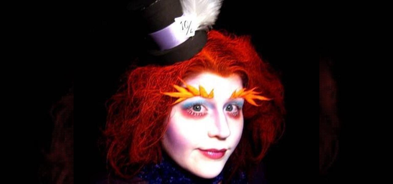 Female mad hatter makeup