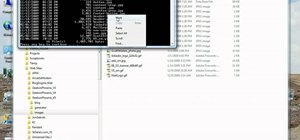 Use the command prompt in Windows 7