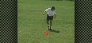 Perform the Behind The Leg move in soccer