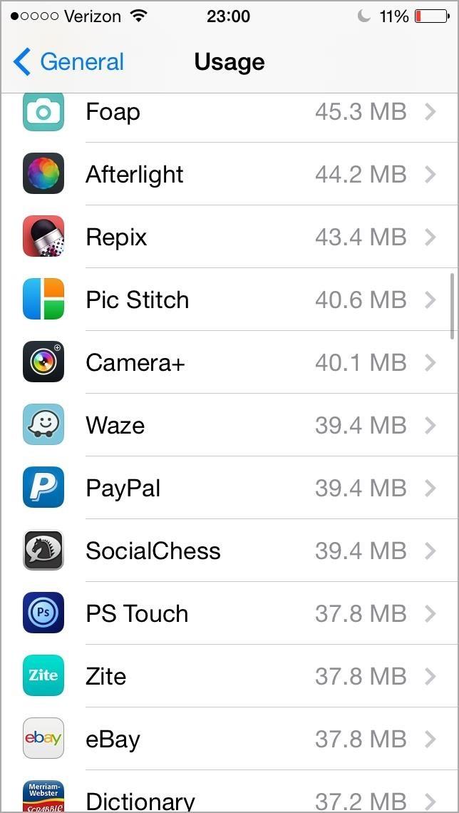 ios how to clear app data