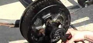 Remove and reinstall a utility trailer hub