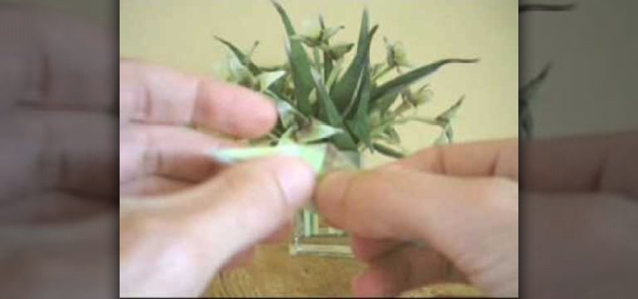 How to fold an origami flower with a stem and leaves origami how to fold an origami flower with a stem and leaves origami wonderhowto mightylinksfo