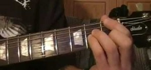 "Play ""November Rain"" by Guns N' Roses on the guitar"
