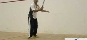Practice the backhand stroke for squash