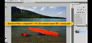 Use the content-aware fill tool in Adobe Photoshop CS5