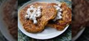 Make delicious and fluffy sweet potato pancakes