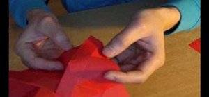 Fold an origami rose for Valentine's Day