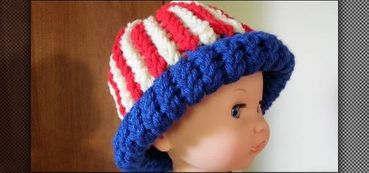 Make a Fourth of July American Baby Hat