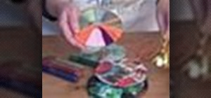 Make Christmas ornaments from CDs
