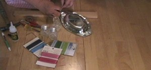 Make wind chimes using salt and pepper shakers