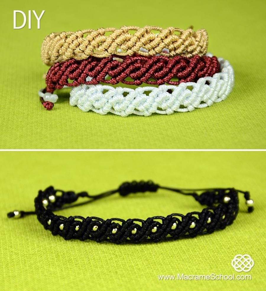 How to Make Wavy Macrame Bracelets