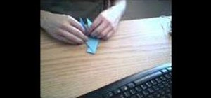 Origami a parrot from one sheet of paper