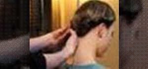 Create a formal updo