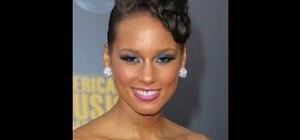 Create an Alicia Keys inspired bright light blue look