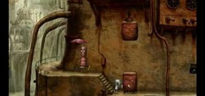 Rescue the dog in the indie game Machinarium