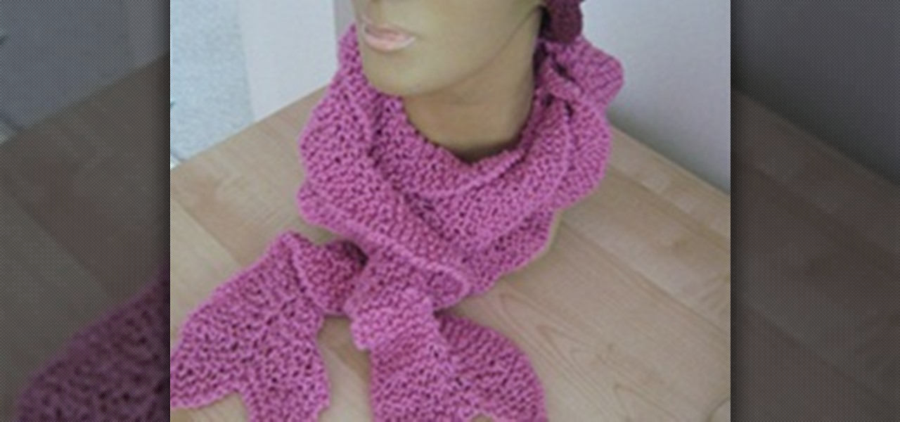 How To Knit A Spiral Ruffle Scarf Knitting Crochet Wonderhowto