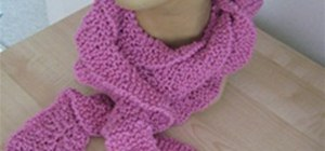 Knit a Spiral Ruffle Scarf