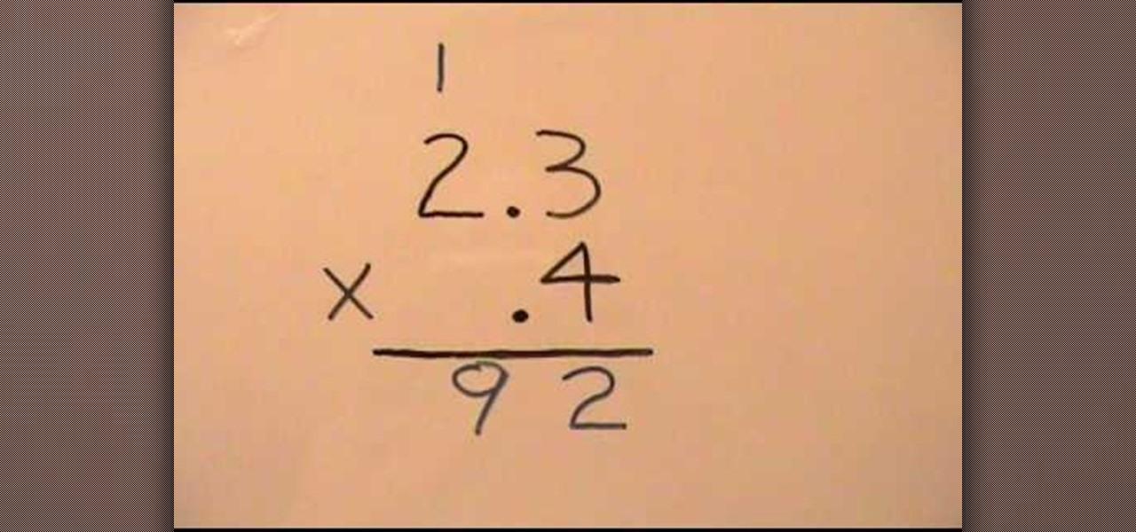 Decimal homework help