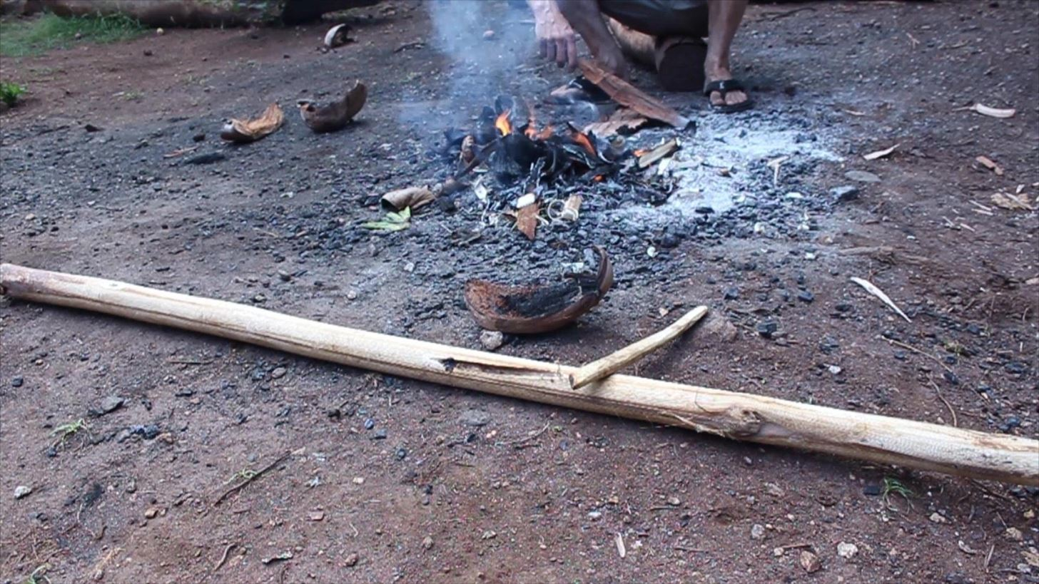 How to Make a Fire by Rubbing Two Sticks Together!