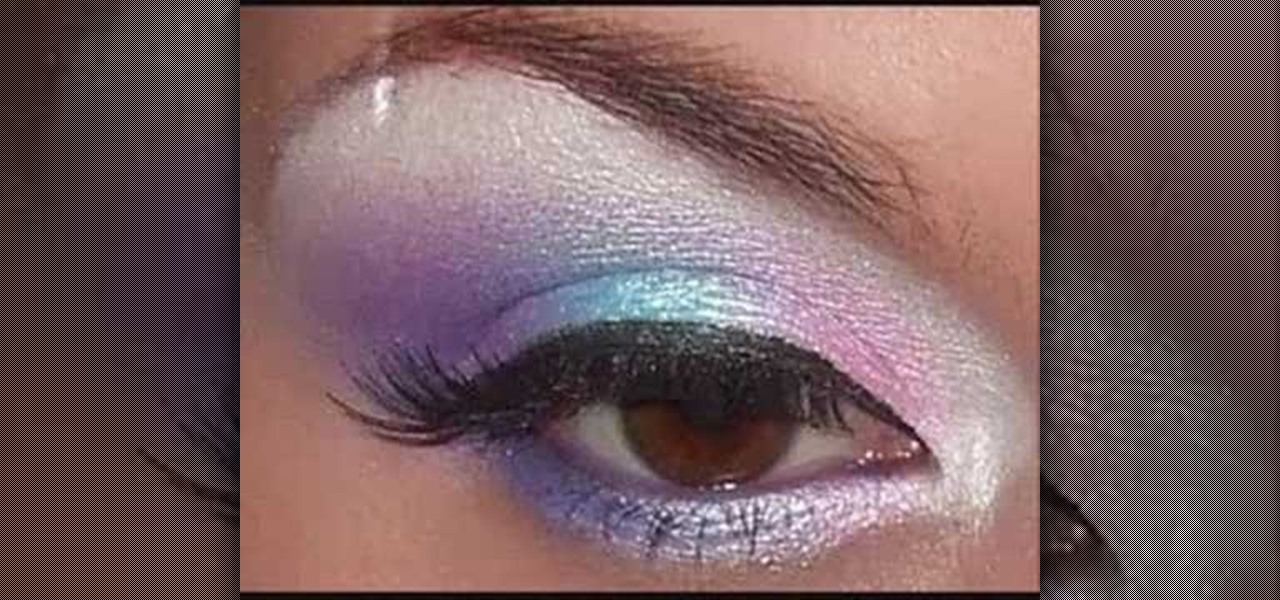 How To Apply Pink Purple And Blue Eye Shadow Makeup Wonderhowto