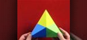 Origami a fortune cookie