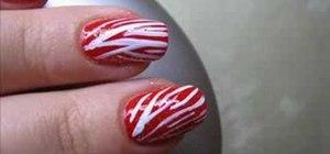 Apply a zebra print manicure