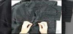 Sew a blindstitch