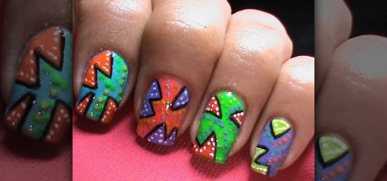 How To Do Pop Art And Neon Nail Polish Designs Nails Manicure