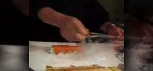 Cut and plate a sushi roll