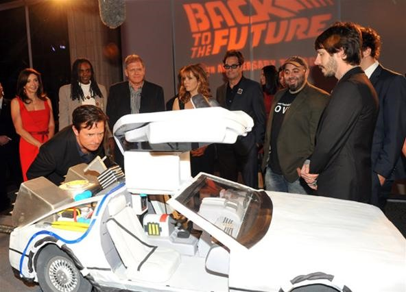 Yum. Back to the Future Reincarnated as a Massive Delorean Cake