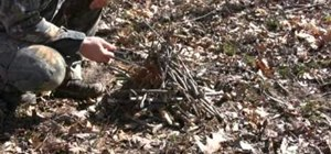 Build a self feeding fire for wilderness survival
