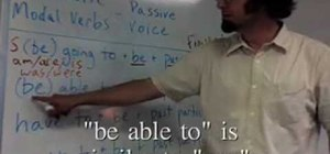 Use English idiomatic modal verbs in the passive voice