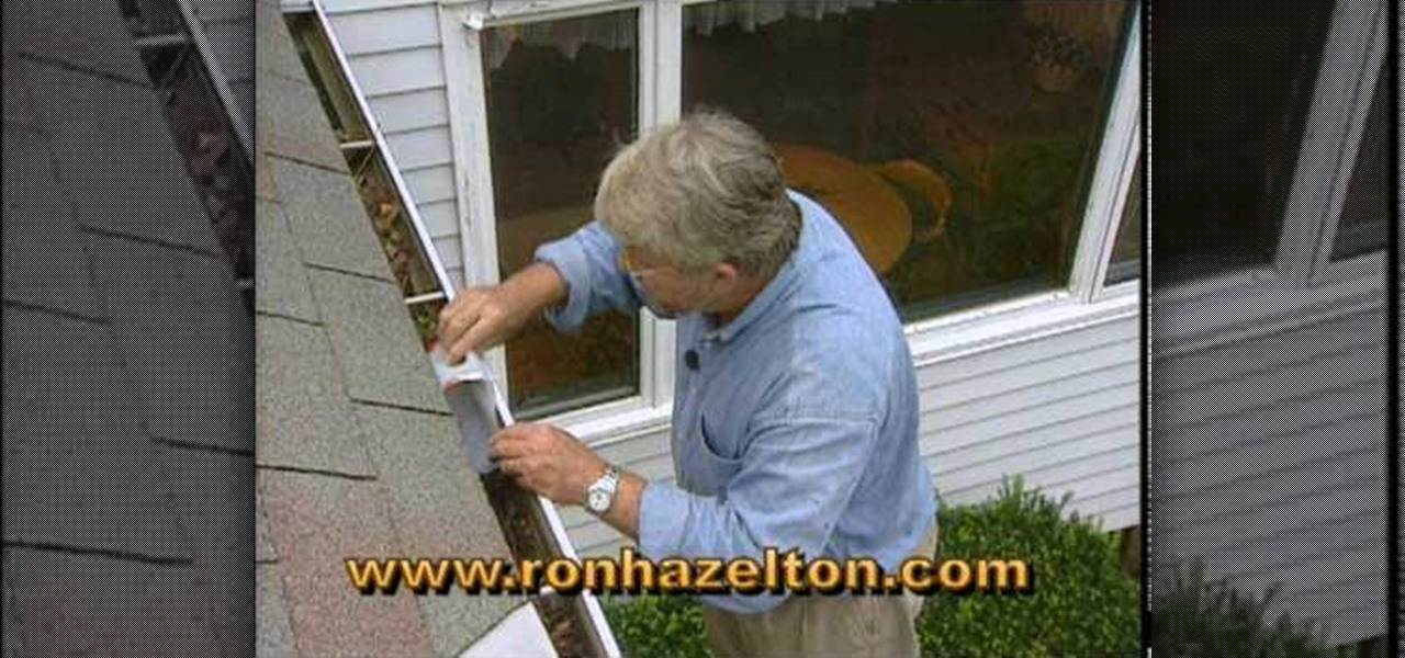 how to clean second story gutters without a ladder