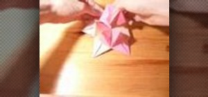 Origami a spiked icosahedron
