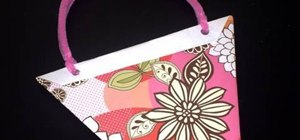 Make a simple paper gift bag with your kids