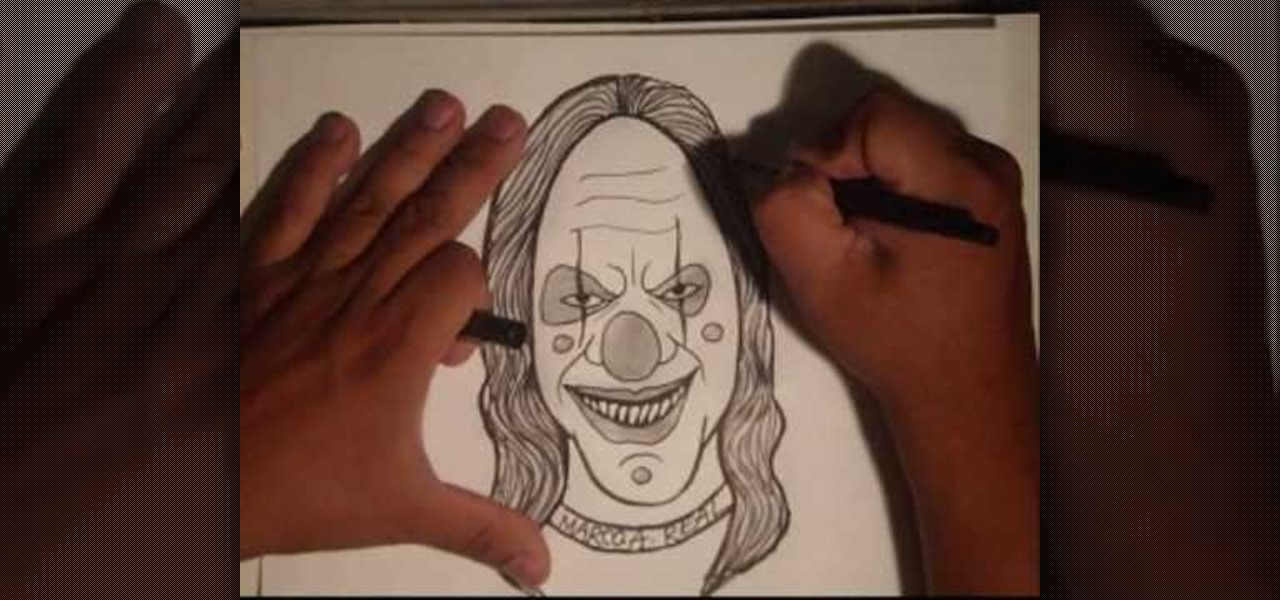 How to Draw a malevolent Easy Gangster Joker Drawings