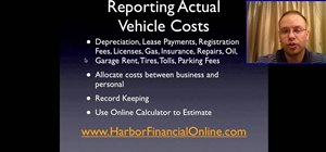 Report standard mileage rates vs actual vehicle expenses tax