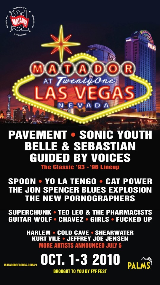 Festival - Matador at 21 Las Vegas Lineup Revealed
