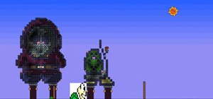 Make Green Koopa pixel art in Terraria